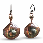 Copper and Upolstery Nail Earrings