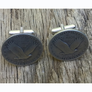 Flying Eagle/Standing Liberty Quarter CuffLinks