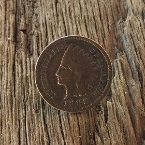 Indian Head Penny Tie Tack