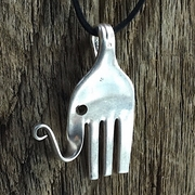 Large Fork Elephant Necklace
