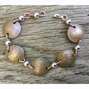 Lincoln Wheat Penny Bracelet