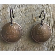 Lincoln Wheat Penny on Wire