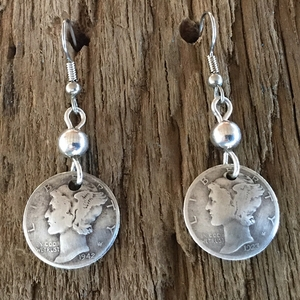 Mercury Dime Dangle