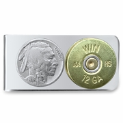 Shot gun shell with Buffalo Nickel Money Clip