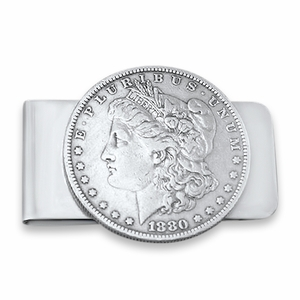 Valentines's Gift Silver Dollar Money Clip. Handmade Money Clip with Coin. Morgan Dollar Money Clip. Silver Dollar Money Clip. Unique Money Clip.