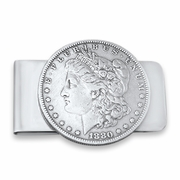 Silver Dollar Money Clip. Handmade Money Clip with Coin. Morgan Dollar Money Clip. Silver Dollar Money Clip. Unique Money Clip.