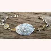 Silver Spoon and Ammo Bracelet