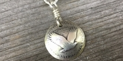 """Silver Standing Liberty Quarter Necklace """"The Eagle"""""""