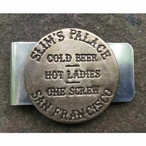 Valentine's Gift for a Player. Slim's Palace in San Francisco Brothel Token Clip For Men