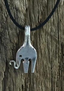 Small Fork Elephant Necklace