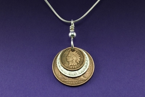 Stacked Coin Necklace