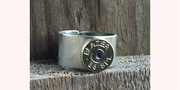 Sterling Silver Band with Brass 38 Special Bullet