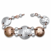 Washington Silver Quarter Bracelet