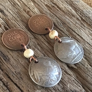 Wheat Penny and Buffalo Nickel Earrings
