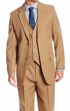1920s Style Vintage Suit for Men Beige 3 Piece Suny 4016 - click to enlarge