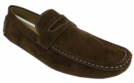 AC Brown Penny Moc Casual Driving Shoes 6516 IS - click to enlarge