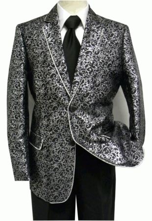 After Midnight Men's Black Silver Swirl Fashion Blazer 5250-000 - click to enlarge