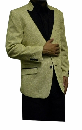 After Midnight Men's Champagne Gold Tuxedo Jacket Temptations - click to enlarge