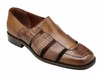 Belvedere Sandals Mens Almond Alligator Calfskin Closed Toe Land V41