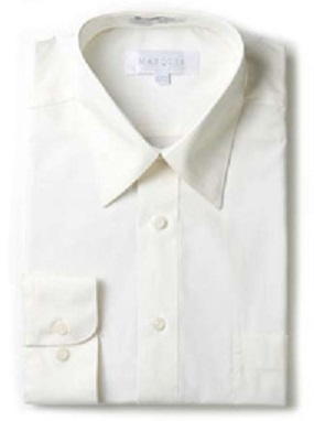 Marquis Solid Ivory Color Regular Fit Dress Shirt 009