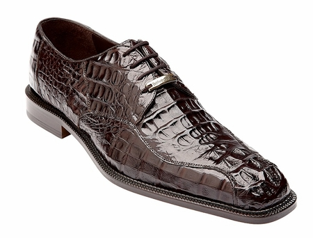 Belvedere Chapo Brown Crocodile Mens Shoes 1465 - click to enlarge