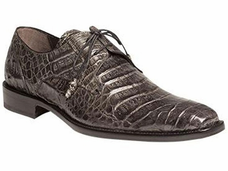 Mezlan Crocodile Shoes Gray Lace up Anderson Size 11 Final Sale - click to enlarge