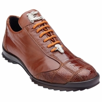 Belvedere Honey Ostrich Skin Casual Exotic Sneaker Paulo 40486