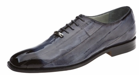 Belvedere Shoes Stella Gray Eel Skin Lace Up 1470 - click to enlarge