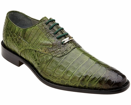 Belvedere Mens Emerald Green Crocodile Shoes Edo 1630 - click to enlarge