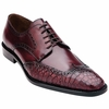 Belvedere Men's Burgundy Alligator Skin Wingtip Shoes Urbano 3B0