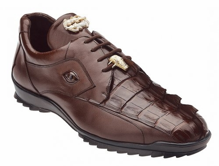 Belvedere Mens Brown Genuine Hornback Crocodile Sneaker Vasco 336122 - click to enlarge