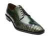 Belvedere Men's Emerald Green Alligator Wingtip Shoes Urbano 3B0