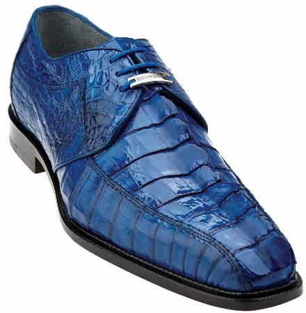 Belvedere Mens Blue Genuine Hornback Crocodile Top Shoes Columbo - click to enlarge