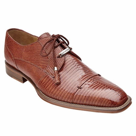 Belvedere Karmelo Honey Brown Full Lizard Skin Exotic Shoes - click to enlarge