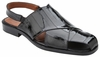 Belvedere Sandals Mens Black Silky Eel Skin Closed Toe Monza V40