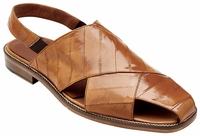 Belvedere Sandals Mens Camel Beige Eel Skin Closed Toe Monza V40