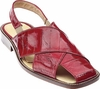 Belvedere Sandals Mens Red Genuine Eel Skin Closed Toe Monza V40