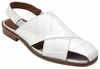 Belvedere Sandals Mens White Supple Eel Skin Closed Toe Monza V40