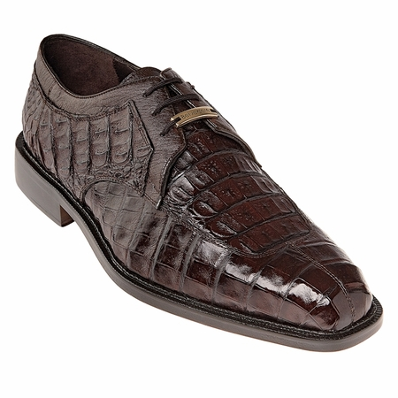 Belvedere Shoes Brown Mens Crocodile Skin Shoes Susa P32 - click to enlarge