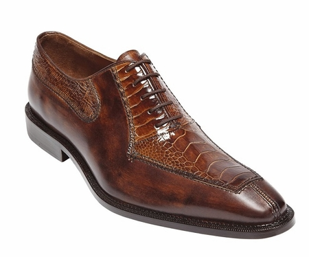 Belvedere Shoes Mens Camel Ostrich Top Split Toe Oxford Dino 0B1 - click to enlarge