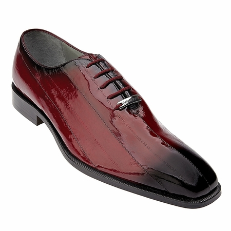 Belvedere Stella Mens Red Eel Skin Shoes 1470 - click to enlarge