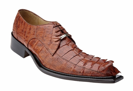 Belvedere Zeno Mens Cognac Hornback Crocodile Shoes 3400 - click to enlarge