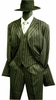 Zoot Suits Black White Gangster Stripe with Vest Alberto M282