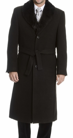 Blu Martini Fur Collar Wool Overcoat 4150-000 Vance IS - click to enlarge