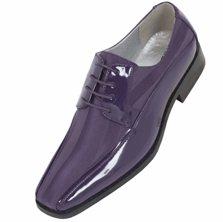 Tuxedo Shoes Mens Purple Stripe Bolano 179 IS - click to enlarge