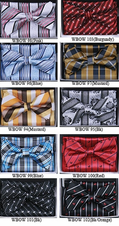Bow Tie and Hanky Sets With Fancy Prints WBOW-8 - click to enlarge