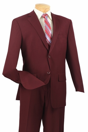 Ron Burgundy Style 3 Button 2 Piece Suit N3PP - click to enlarge