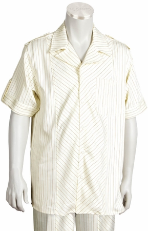 Canto Big and Tall Diagonal Stripe Walking Suit 697 - click to enlarge