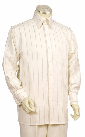 Canto Big and Tall Fancy Stripe Long Sleeve Walking Suit 860 - click to enlarge