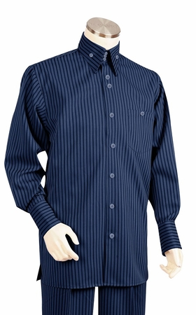 Canto Big and Tall Fashion Stripe Long Sleeve Walking Suits 868 - click to enlarge